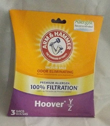 Arm and Hammer Premium Vacuum Bags - Hoover Y/Z - Pack of 3 (Hoover Savvy Vacuum compare prices)