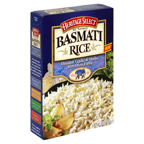 Heritage Select Basmati Rice, Roasted Garlic and Herb with Orzo Pasta, 6.5-Ounce Boxes (Pack of 12)