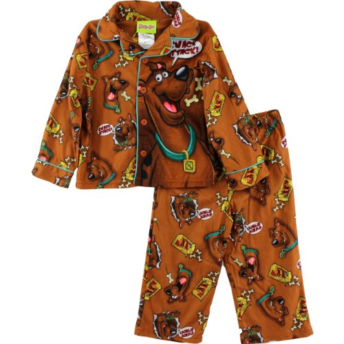 "Scooby Doo ""Snack Attack"" Brown Flannel Coat Pajamas 2T-4T (2T) front-732706"