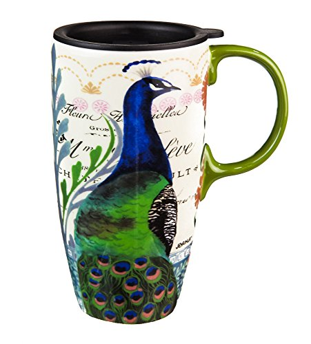 Proud Peacocks Latte Travel Mug