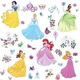 Roommates Disney Princess - Princess Peel And Stick Wall Decal, Multi Color