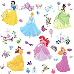[Best price] Kids&#039 - RoomMates RMK1470SCS Disney Princess Peel & Stick Wall Decals with Gems - toys-games
