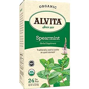 Alvita Organic Spearmint Herbal Supplement, 24 bags