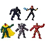 "Marvel 500 Vision, War Machine, Iron Man, Black Widow & Black Panther Exclusive 2"" Mini Figure 5-Pack"