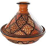 Le Souk Ceramique CT-MIEL-22 Cookable Tagine, 9-Inch, Honey Design