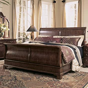 Stunning American Drew Cherry Grove Sleigh Bed In Antique Cherry