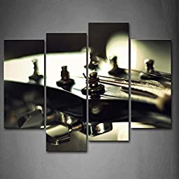 First Wall Art® - Black And White Regulators In The Head Of Guitar Wall Art Painting The Picture Print On Canvas Music Pictures For Home Decor Decoration Gift