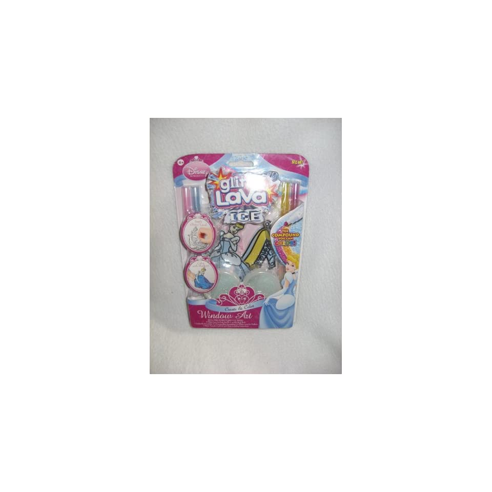Disney Princess Cinderella Glitter Lava ICE Window Art Kit