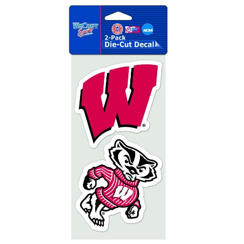 NCAA Wisconsin Badgers 2-Piece Die-Cut Decal, 4
