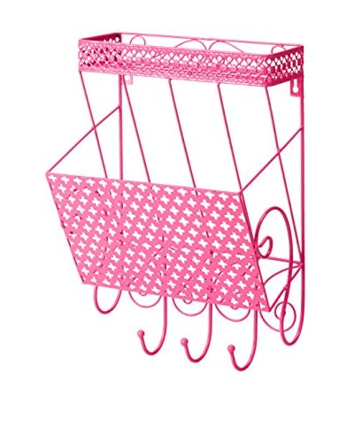 Three Hands Pink Metal Wall Storage