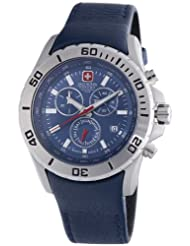 Swiss Military Hanowa Men's 06-4148-04-003 Marine Officer Chronograph Blue Dial Watch