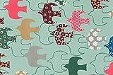 コスモテキスタイル 北欧の森 ナイロンオックス AP45602 約110cm巾×50cmカット col.1E
