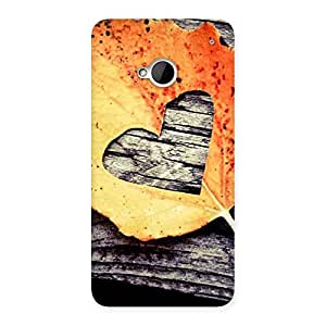 Leaf Heart Back Case Cover for HTC One M7