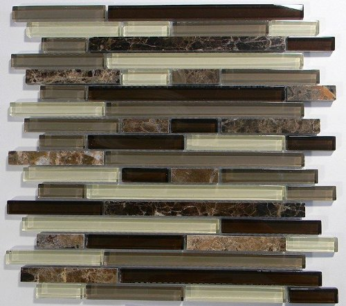 MS International Royal Oaks 12 in. x 12 in. Glass Blend Mesh-Mounted Mosaic Tile - BOX OF 5 TILES picture