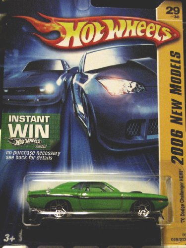 Hot Wheels 2006 New Models '70 Dodge Challenger HEMI 29/38 GREEN #029 - 1
