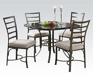 Acme Furniture 70057SQ Daisy Black Faux Marble