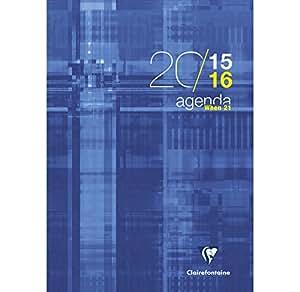 1 Agenda WHEN 21 - Août 2015 à juillet 2016 - Format 21x29.7cm - Plusieurs visuels disponibles