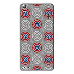 Marvel Civil War PBMARLENK3N006 Captain Shield Back Cover for Lenovo K3 Note (Multicolor)