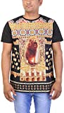 Gravity Men's Cotton Regular Fit T-Shirt (GAM-6, Black, XX-Large)