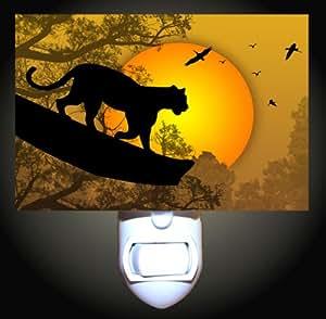 Jaguar Silhouette Decorative Night Light Home