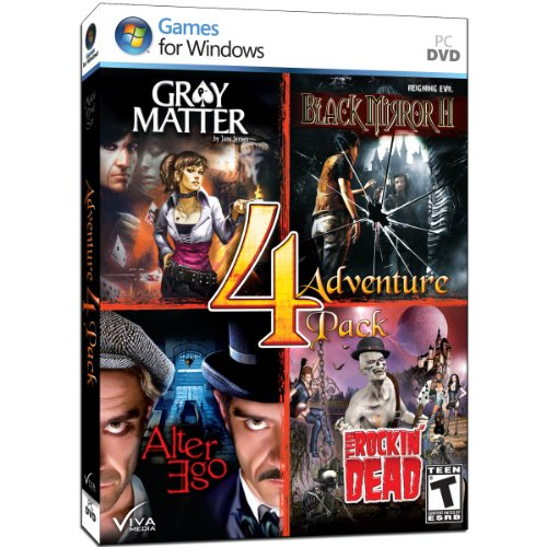 Adventure 4 Pack - Includes: Gray Matter, Black Mirror II, Alter Ego, Rockin' Dead