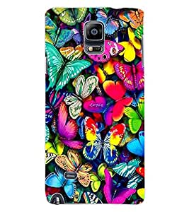 ColourCraft Beautiful Butterflies Design Back Case Cover for SAMSUNG GALAXY NOTE 4