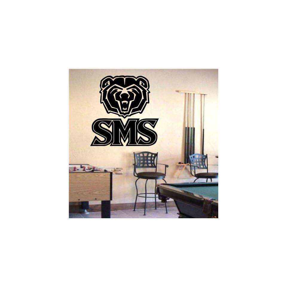 Ncaa Wall Mural Vinyl Sticker Sports Logos Southwest Missouri State Bears (S908)