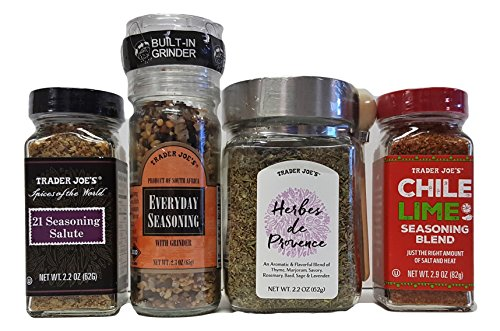 Trader Joe's Classic Everyday Spice Herbs Seasoning Holiday Gift Set 4 Piece Bundle (21 Seasoning Salute compare prices)