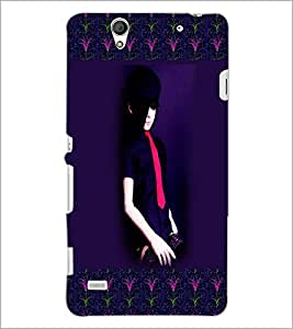 PrintDhaba Girl Design D-2473 Back Case Cover for SONY XPERIA C4 (Multi-Coloured)