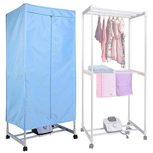 Yescom Portable Electric Clothing Dryer Rack 1000W Heater Wardrobe Drying Rack Home (Baby Clothes Dryer Rack compare prices)