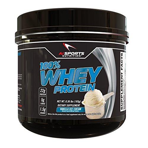 Vanilla Ice Cream Protein Powder 100% Whey Protein 5 Serving Mini Tub (On Whey Protein Vanilla Ice Cream compare prices)