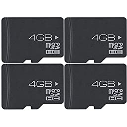Extreme Speed 4-Pack 4 GB High-Speed MicroSD Memory Card with Adaptor (16 GB Total)