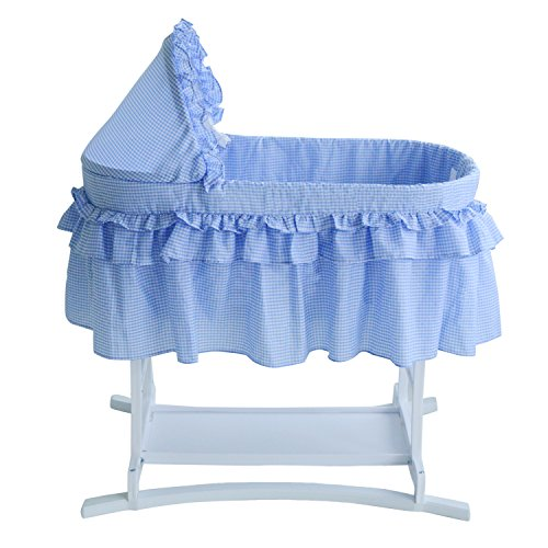 Lamont Limited Home Bassinet, Half Skirt, Blue - 1