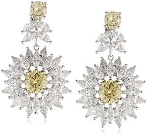 CZ by Kenneth Jay Lane 16 Cttw Marquis Cubic Zirconia Daisy Drop Earrings