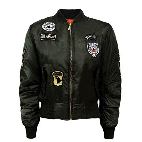 donna-elegante-ma1-bomber-giacca-vintage-da-donna-zip-con-tasche-plain-us-badge-stampa-mimetico-stil