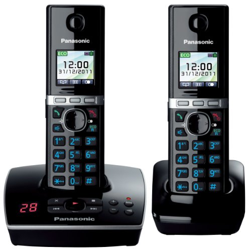 Panasonic  KX-TG8062EB Twin Colour DECT Phone Set with Answer Machine image