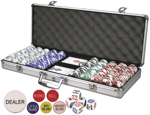 Best Deals! Da Vinci Premium Set Poker Set with Card-Suited Poker Chips, 6 Dealer Buttons, Cards, & ...