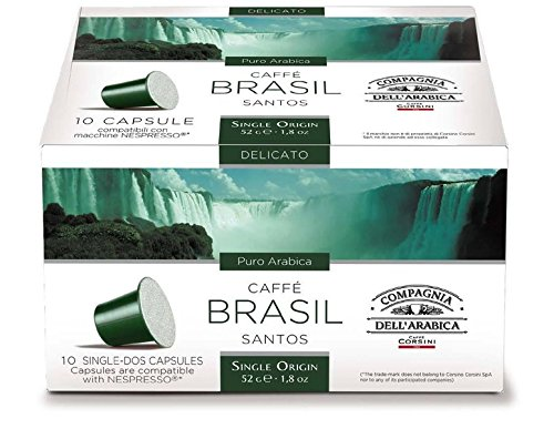 Buy Nespresso Compatible Capsules SINGLE ORIGIN Compagnia dell'Arabica - BRAZIL SANTOS - 10 caps / box (TOTAL: 30 caps) from Compagnia dell'Arabica - a Caffe Corsini S.p.A. company Group