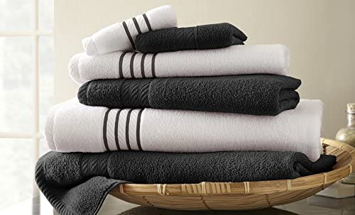 6-Pc. Quick-Dry Striped Towel Set