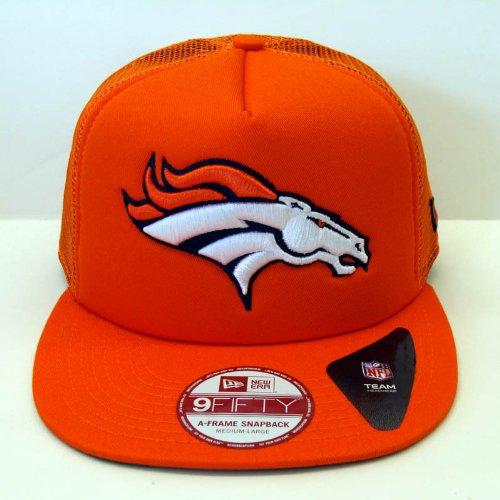 Denver Broncos New Era Trucker Snapback Cap Hat Orange