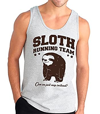 Sloth Running Team. Can We Just Nap Instead? Funny Tank Top