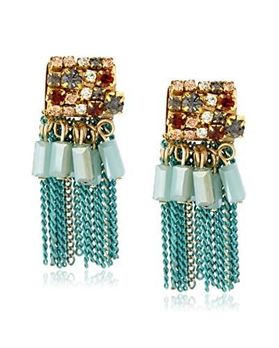 Leslie Danzis Square Gem Fringed Earrings As You See