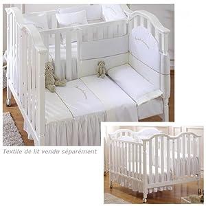 micuna lit jumeaux elegance due blanc. Black Bedroom Furniture Sets. Home Design Ideas