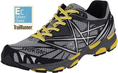 TrekSta Men's Sync Trail Running Shoes - Gray/ Yellow 9