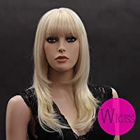 Western Popular Stylish Beautiful Women's Long Blonde Wig Hair Fashion Ladies Wig