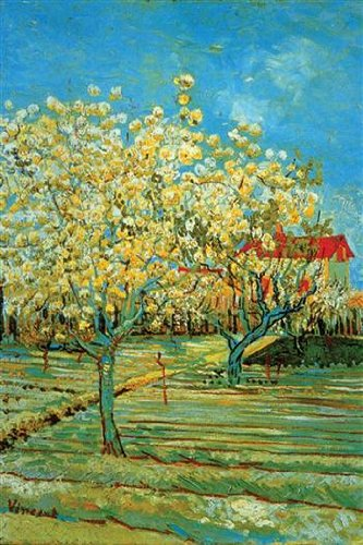 Walls 360 Peel & Stick Wall Decals: Orchard with Cypress by Vincent Van Gogh (8 in x 12 in)