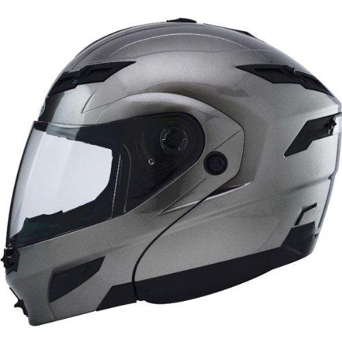 Gmax Gm54S Modular Men'S Street Motorcycle Helmet - Titanium / Large