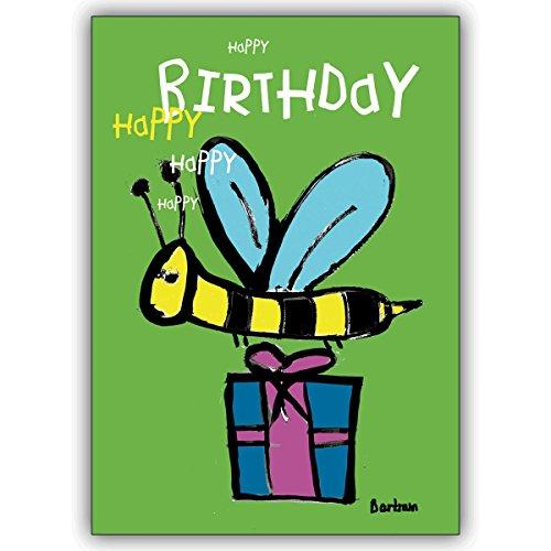 1 Geburtstagskarte: Verschicken Sie Geburtstagswünsche mit der Happy Birthday Biene