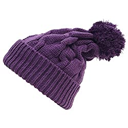 5sos Luke Beanie Pompon Beanie Winter Warm Unisex Beret Braided Baggy Beanie (PURPLE)