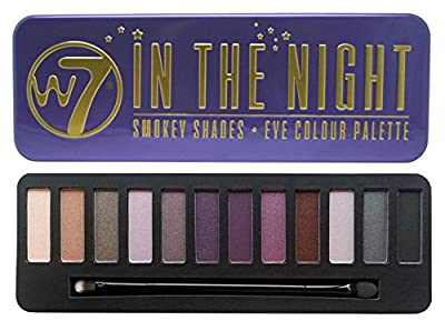 W7's Ultimate Eyeshadow Collection with Natural Nudes and Smokey Shades - Four Gorgeous, 12-in-1 palette sets: In the Buff+ In The Nude + In The Night + Lightly Toasted